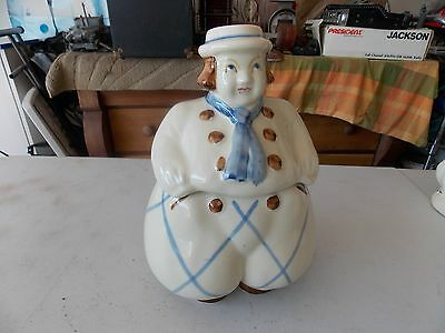 Vintage Shawnee Usa Pottery Dutch Boy Cookie Jar Happy Jack