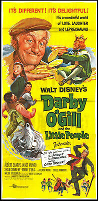 DARBY O'GILL AND THE LITTLE PEOPLE orig large 3-sheet movie poster SEAN CONNERY