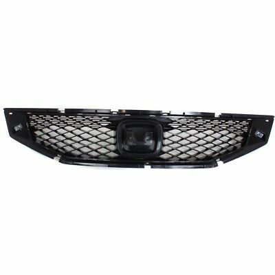 Grille 2008-2010 For Honda Accord Black 2-Door Coupe