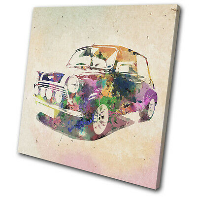 Transportation Abstract  Car Mini SINGLE CANVAS WALL ART Picture Print VA