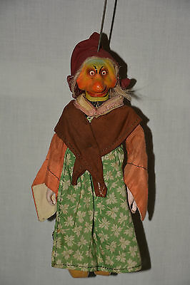 Hexe Marionette Witch Theater String Puppet Magic Theatre Kasperle Drude Zauber