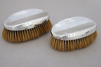 Beautiful Pair Of Antique Solid Sterling Silver Brushes 1922