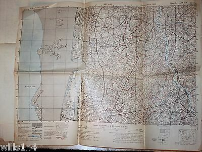 WWII US Army 29th Division Field Map Brehal France August 1943