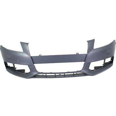 Front Bumper Cover For 2009-2012 Audi A4 Quattro w/ fog lamp holes A4 Primed