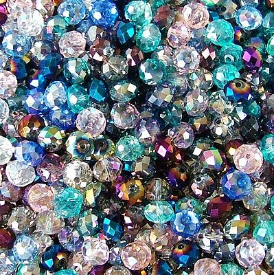 Option 10Mm Crystal Glass Rondelle Beads Jewellery Bridal & Craft Making