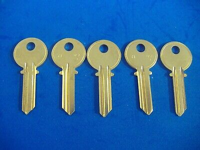 Lot Of Five Locksmith Y1 5-Pin Key Blanks Fits Yale Solid Brass