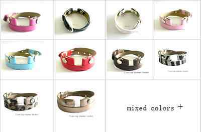 Mix Colors& Multi-Qty PU Leather Wraps for Bracelet Locket Free Shipping