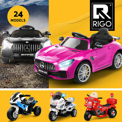 RIGO Kids Ride On Car Motorbike Motorcycle Remote 12V Electric Toys Cars Battery