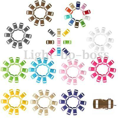 New 10Pcs Muti-Color Curved Side Release Plastic Buckles for Paracord Bracelet