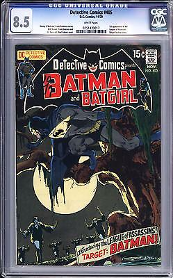 Detective Comics #405 Cgc 8.5   White Pages  Neal Adams  1St League Of Assassins