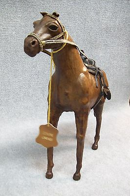 Cowboy's Work Horse Stallion / Horn Saddle 100% Leather Western Accent Piece.
