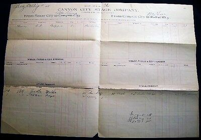 1889 CANYON CITY OREGON STAGE BAKER MALHEUR STAGECOACH COMPANY PARKER & McEWEN