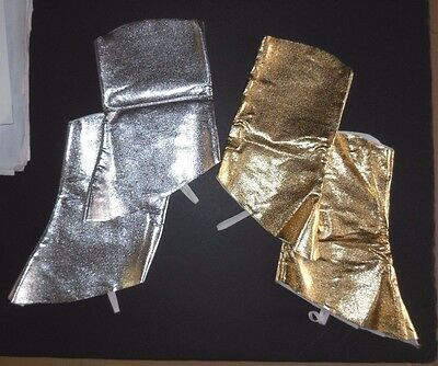 NEW Metallic Boot Spats Child szs gold or Silver Dance Theatrical Cowboy Soldier