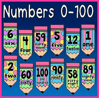 *cd* Number Flashcards 0-100 Teaching Resources Maths Numeracy Eyfs Ks1-2
