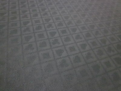 Suited Poker Table Speed Cloth In 1.5M X 1.5M  [Black] + 2 Decks Plastic Cards