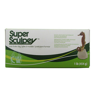Super Sculpey Polymer Oven Bake Modelling Clay 454g. For Art & Craft.