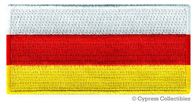 SOUTH OSSETIA FLAG embroidered iron-on PATCH RUSSIA GEORGIA EMBLEM applique