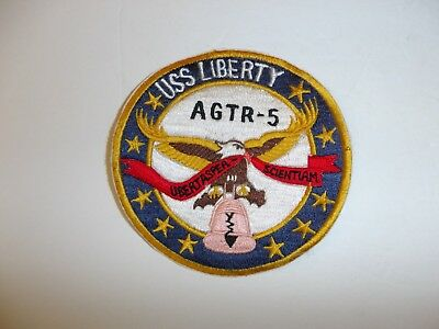 b2970 Cold War US Navy Patch USS Liberty AGTR-5 IR34C