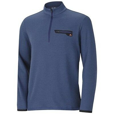 Adidas Mens Sport Performance 1/2 Zip Sweater Golf Pullover  New Multiple Colors