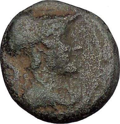 Greek City Authentic Ancient Greek Coin 350-200BC Athena Nike Victory i50472