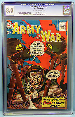 OUR ARMY AT WAR#90 CGC 8.0 DC Comics HIGH GRADE How SGT ROCK earned his stripes