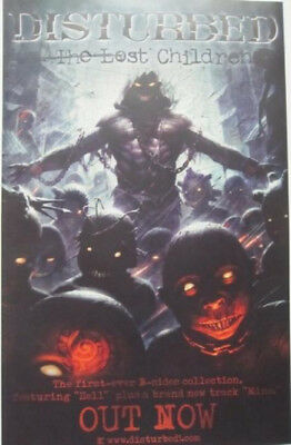 DISTURBED 2011 THE LOST CHILDREN promotional poster ~NEW old stock & MINT~!