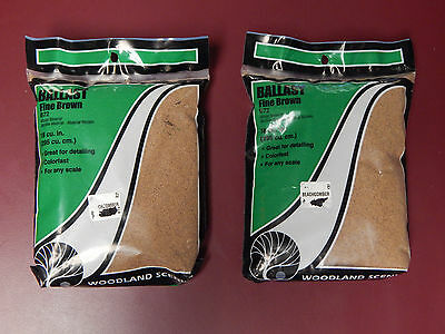2 Bags of Woodland Scenics B72 Fine Brown Ballast