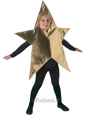 Child Gold Childrens Star Outfit Fancy Dress Costume Christmas Nativity Boy Girl