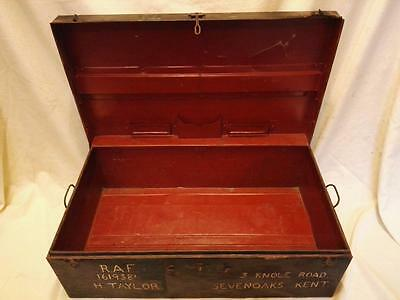 Vintage Ww2 Raf Metal Trunk, C1941