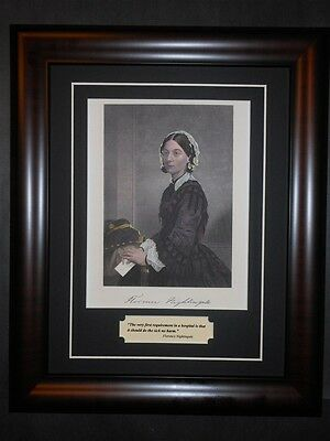 Florence Nightingale Hospital Nurse Quote Red Cross Women's Rights Photo Framed