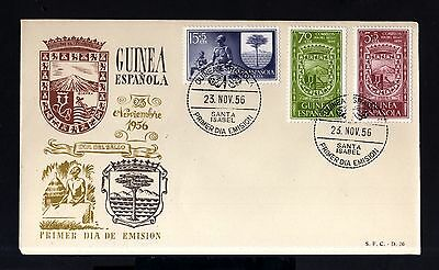 6842-SPANISH GUINEA-EXCOLONIAS ESPAÑOLAS-FDC.COVER St.ISABEL.1956.SPAIN colonies