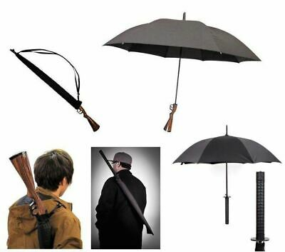 Weapon Gun Handle Novelty Umbrella Brolly