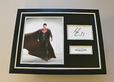Henry Cavill Signed Photo Framed 16x12 Man of Steel Autograph Display + COA
