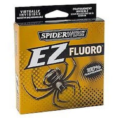 SPIDERWIRE EZ  FLUOROCARBON  200yd SPOOL Various Breaking Strains