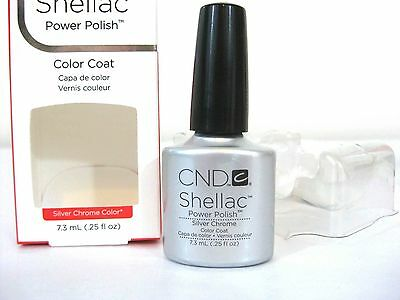 CND Shellac Power Nail Polish SILVER CHROME COLOR * NIB      BUY 3 GET 3 FREE!!