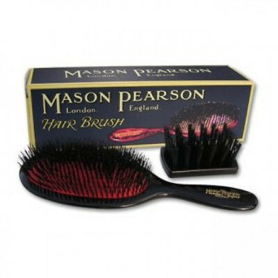 Mason Pearson Small Extra B2 Pure Bristle: Dark Ruby, Pink, White (Ivory), Blue