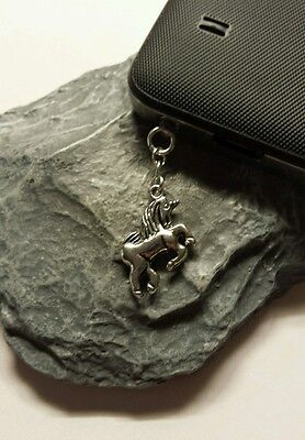 Unicorn Dangle Charm For Mobile Phone. Tablet. Ipad. Iphone. Dust Plug.