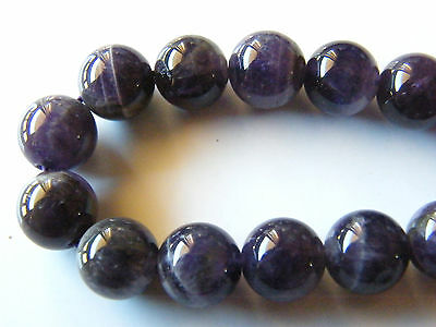 40pcs 10mm Round Natural Gemstone Beads - Amethyst