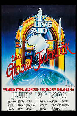 World Wide Rock Concert:  * Live Aid * Event Poster 1985  Large 24x36
