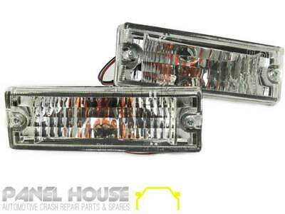 HOLDEN Rodeo TF Ute 91-97 Clear Pair CRYSTAL Bar Indicator Lights Complete SET