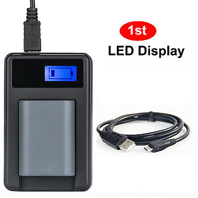 USB Battery Charger with Charging Meter for Canon NB-2L EOS 350D 400D