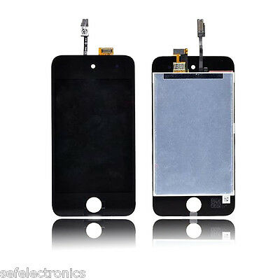 Kit Touch Screen Vetro E Lcd Display Nero Per Apple Ipod Touch 4G A1367