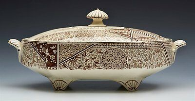 Aesthetic Movement Brownhill Kioto Pattern Lidded Tureen Dated 1883