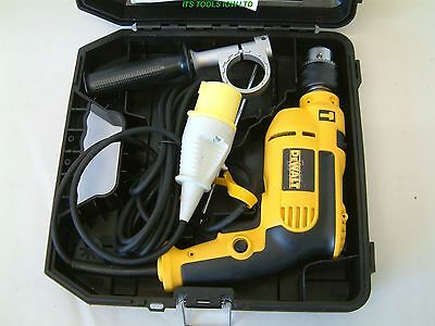 DeWALT DWD024K VARIABLE SPEED PERCUSSION DRILL IN CARRY CASE 110v