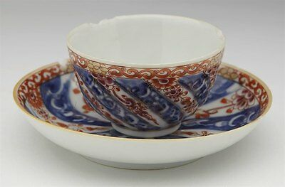 Antique Chinese Kangxi Queen Charlotte Pattern Tea Bowl & Saucer 18Th C.