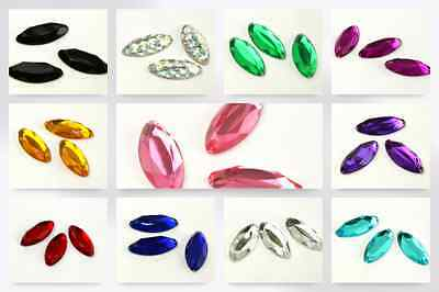 Oblong Sew & Stick On Acrylic Jewels - per pack of 3 (CB3694/3711-9601-M)