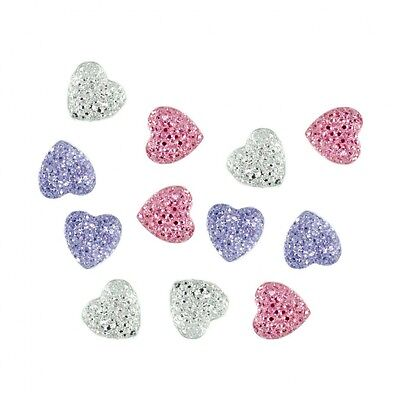 Dress It Up Diamante Glitter Hearts  Lilac, Pink & Silver - per pack (Dre...