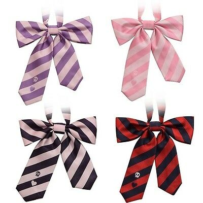 JK Uniform Striped Bow Ties Preppy Style Boys Girl's Neck Bows 4 Colors Gifts