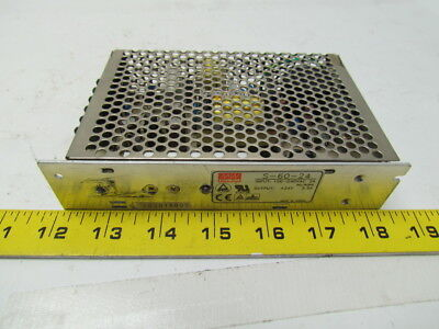 Mean Well S-60-24 60W Single output switching power supply input 100-240V output