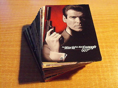 James Bond The World Is Not Enough  Complete Basic Set Of Cards